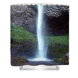 Shower Curtain featuring the photograph Latourel Falls by Charles Robinson