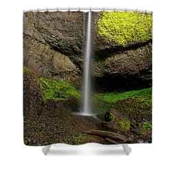 Shower Curtain featuring the photograph Latourell Falls by Jonathan Davison