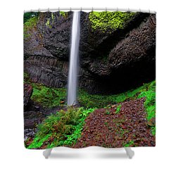 Shower Curtain featuring the photograph Latourell Falls Oregon by Jonathan Davison