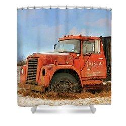 Shower Curtain featuring the photograph Latsha Lumber Truck by Lori Deiter