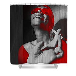 Laugh Shower Curtain by Naxart Studio