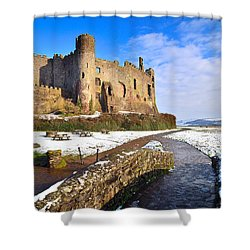 Laugharne Castle 2 Shower Curtain