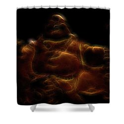 Laughing Buddha Light Shower Curtain by William Horden