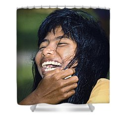 Shower Curtain featuring the photograph Laughing Out Loud by Heiko Koehrer-Wagner
