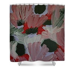 Laughter Shower Curtain by Roberta Byram