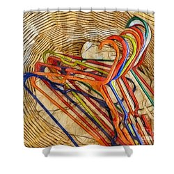 Laundry Basket Shower Curtain