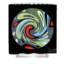 Shower Curtain featuring the painting Laundry Cycle by Bill Thomson