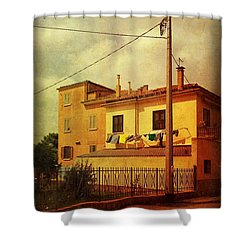 Shower Curtain featuring the photograph Laundry Day by Anne Kotan