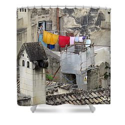 Laundry Day In Matera.italy Shower Curtain by Jennie Breeze