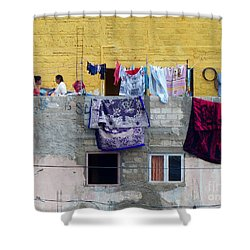 Laundry In Guanajuato Shower Curtain