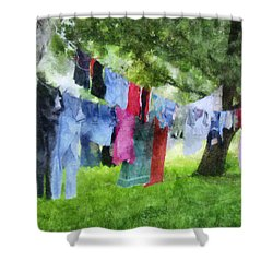 Laundry Line Shower Curtain