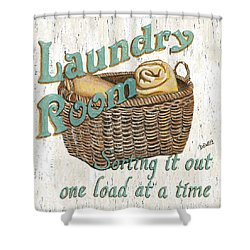 Laundry Room Sorting It Out Shower Curtain by Debbie DeWitt