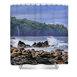 Shower Curtain featuring the photograph Laupahoehoe Point by DJ Florek