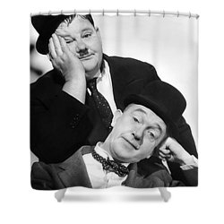 Laurel And Hardy, 1939 Shower Curtain by Granger