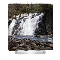 Laurel Falls In Spring #1 Shower Curtain by Jeff Severson