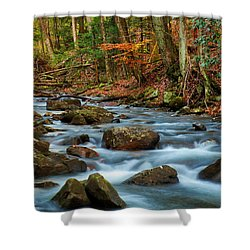 Laurel Fork In The Fall Shower Curtain