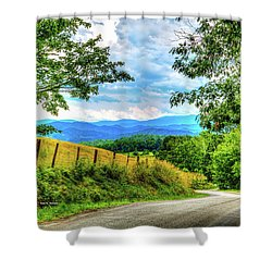 Laurel Hill View Shower Curtain by Dale R Carlson