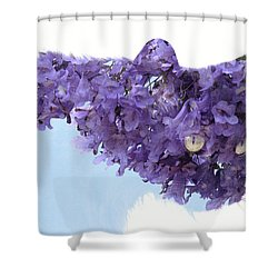 Laurel Tree In Cat Shower Curtain