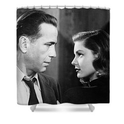 Lauren Bacall Humphrey Bogart Film Noir Classic The Big Sleep 2 1945-2015 Shower Curtain by David Lee Guss