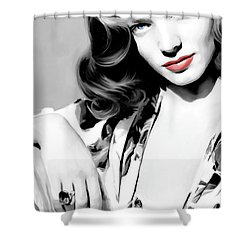 Lauren Bacall Large Size Portrait 2 Shower Curtain