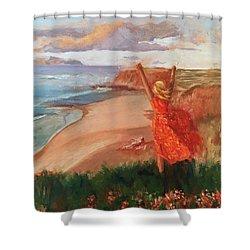 Lauren In Portugal Shower Curtain