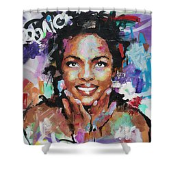 Lauryn Hill Shower Curtain