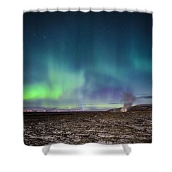 Lava And Light - Aurora Over Iceland Shower Curtain
