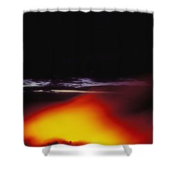 Lava And Moon Shower Curtain by William Waterfall - Printscapes