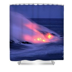 Lava And Pink Smoke Shower Curtain by William Waterfall - Printscapes