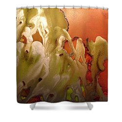 Erupting Lava  Shower Curtain