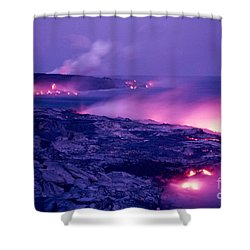 Lava Flows To The Sea Shower Curtain by Mary Van de Ven - Printscapes