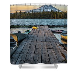 Lava Lake Evening  Shower Curtain