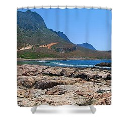 Lava Rocks Of Balos Shower Curtain