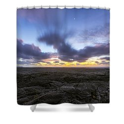 Shower Curtain featuring the photograph Lava Twilight by Ryan Manuel