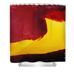 Lava Window Shower Curtain by Erik Aeder - Printscapes