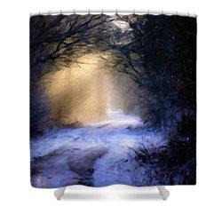 Lavander Snow  Shower Curtain