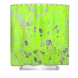 Shower Curtain featuring the photograph Lavender Abstract by Jerry Sodorff
