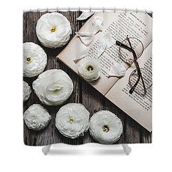 Shower Curtain featuring the photograph Lavender And Old Lace by Kim Hojnacki