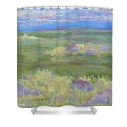 Lavender And Wheat Shower Curtain