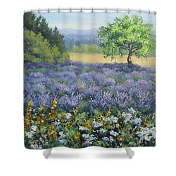 Lavender And Wildflowers Shower Curtain