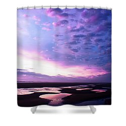Shower Curtain featuring the photograph Lavender Beach Sunset by Tyra OBryant