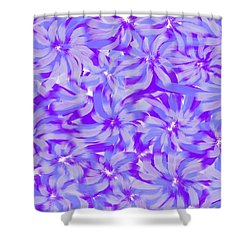 Lavender Blue 1 Shower Curtain by Linda Velasquez