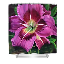 Lavender Daylily Shower Curtain