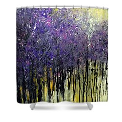 Shower Curtain featuring the painting Lavender Dreams by Priti Lathia