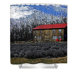 Lavender Farm Shower Curtain