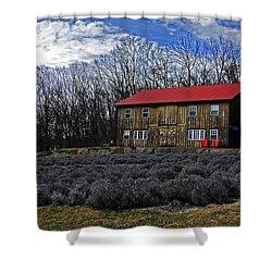 Lavender Farm Shower Curtain by Elsa Marie Santoro