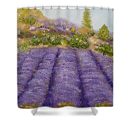 Lavender Field Shower Curtain by Judith Rhue