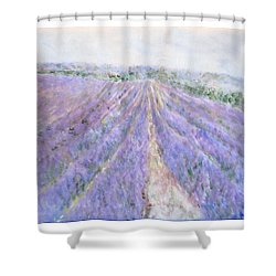 Lavender Fields Provence-france Shower Curtain