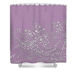 Lavender Floral Shower Curtain by Ellen O'Reilly
