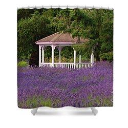 Lavender Gazebo Shower Curtain